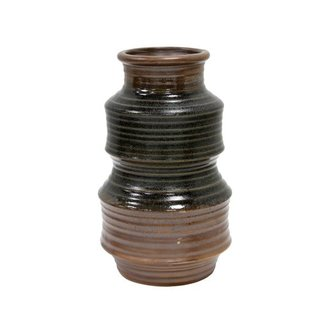 HK living Ceramic vase retro - brown