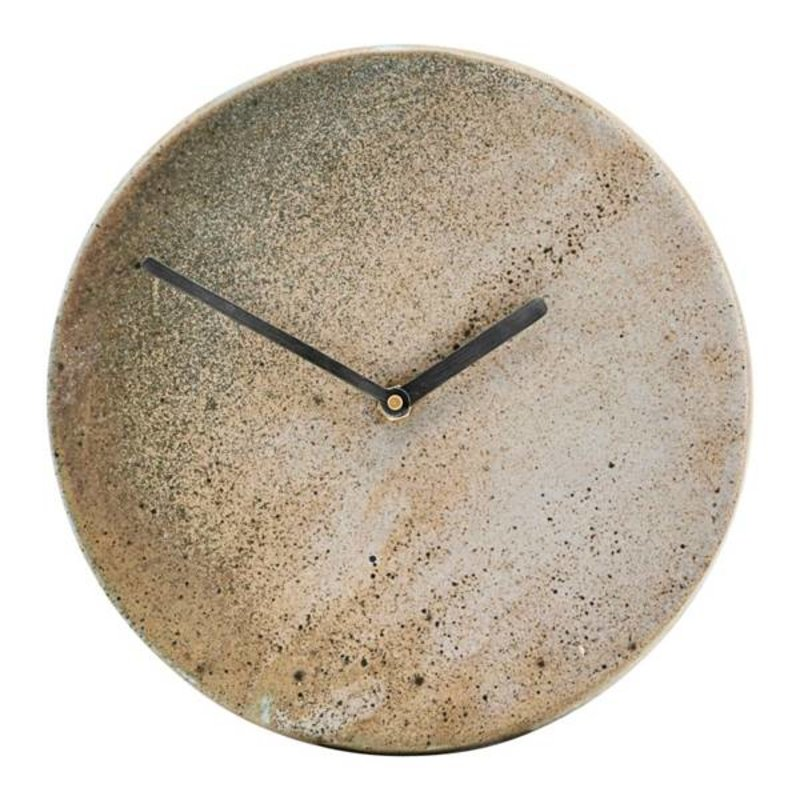 House Doctor-collectie Wall clock METRO brown