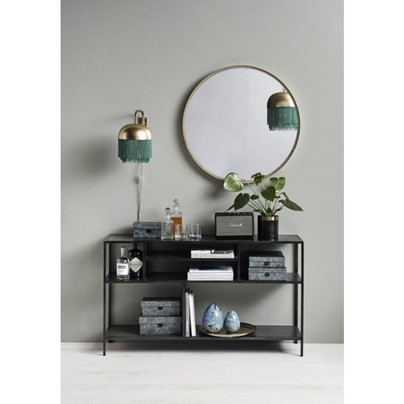 Nordal-collectie Iron display rack - black