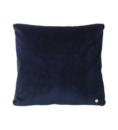 ferm LIVING Cushion Corduroy - navy blue