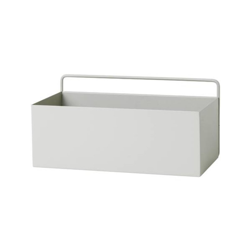 ferm LIVING-collectie Wandbox rechthoekig - lichtgrijs