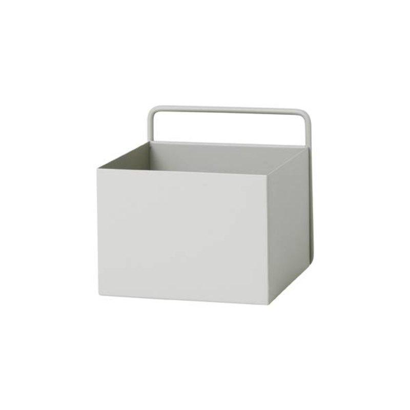 ferm LIVING-collectie Wandbox vierkant - lichtgrijs