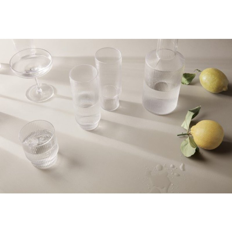 ferm LIVING-collectie Glass Ripple (set of 4)