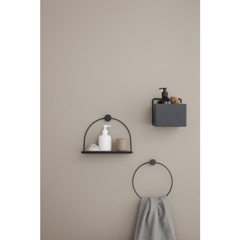 ferm LIVING-collectie Wall box square - black