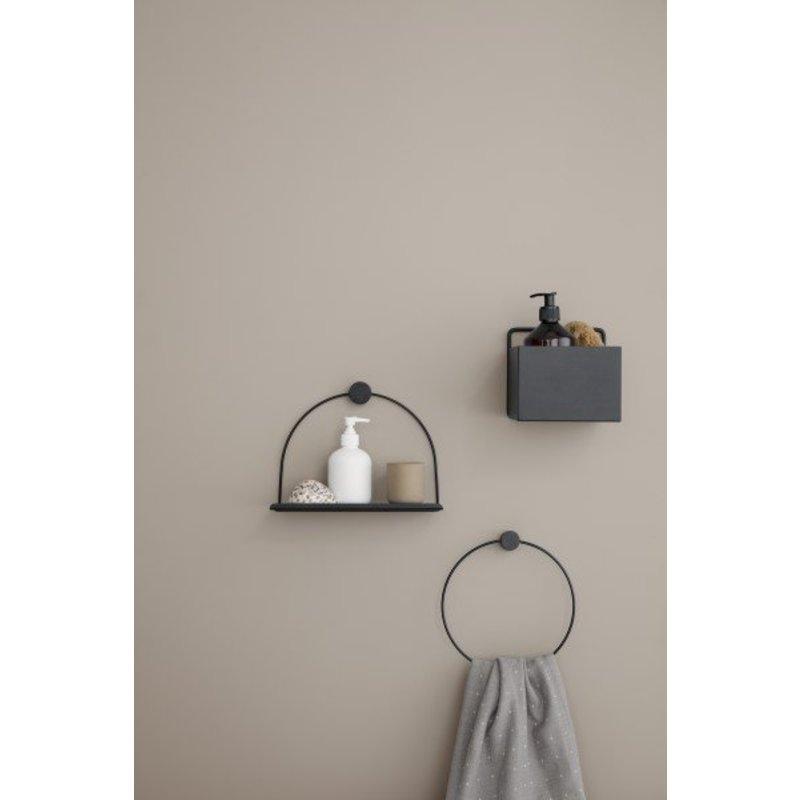 ferm LIVING-collectie Wandbox vierkant - zwart