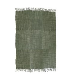 HK living  Linen rug army green (230x230)