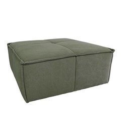 HK living  Hocker cube bank canvas army green