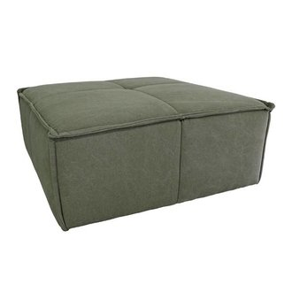 HKliving Hocker cube bank canvas army green