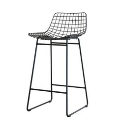 HK living  Barstool wire - black