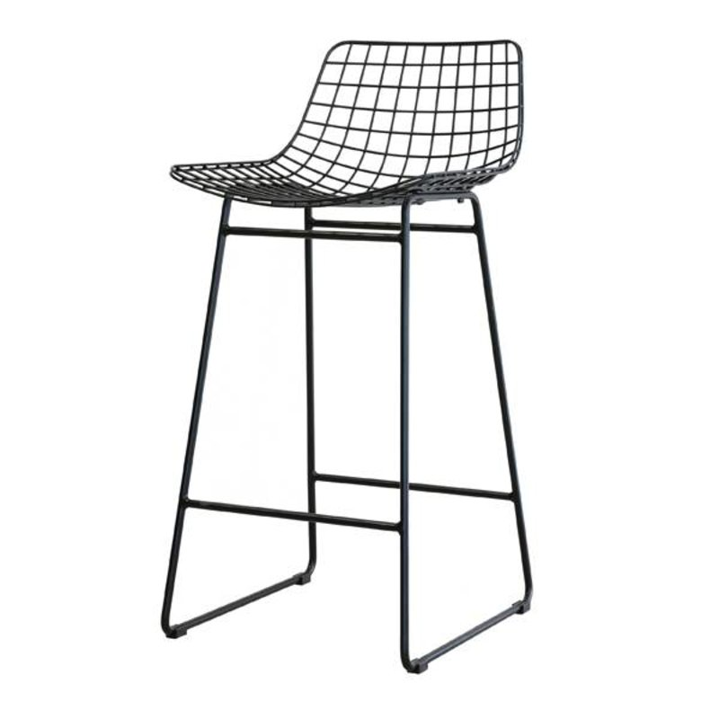 HKliving-collectie Barstool wire - black