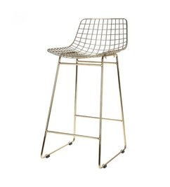 HK living  Barstool wire - brass