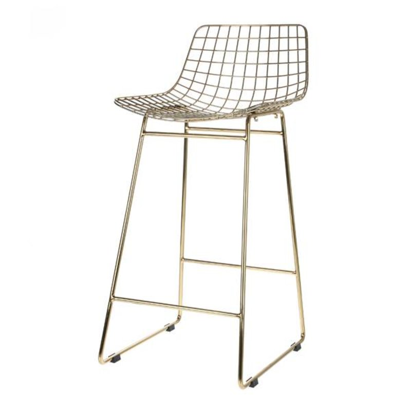 HKliving-collectie Barstool wire - brass