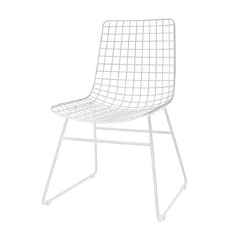 HK living Metal wire chair - white