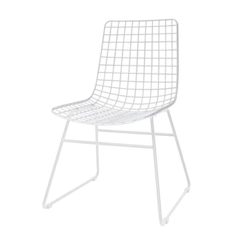 HKliving-collectie Metal wire chair - white