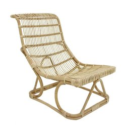 HK living-collectie Lounge chair rattan