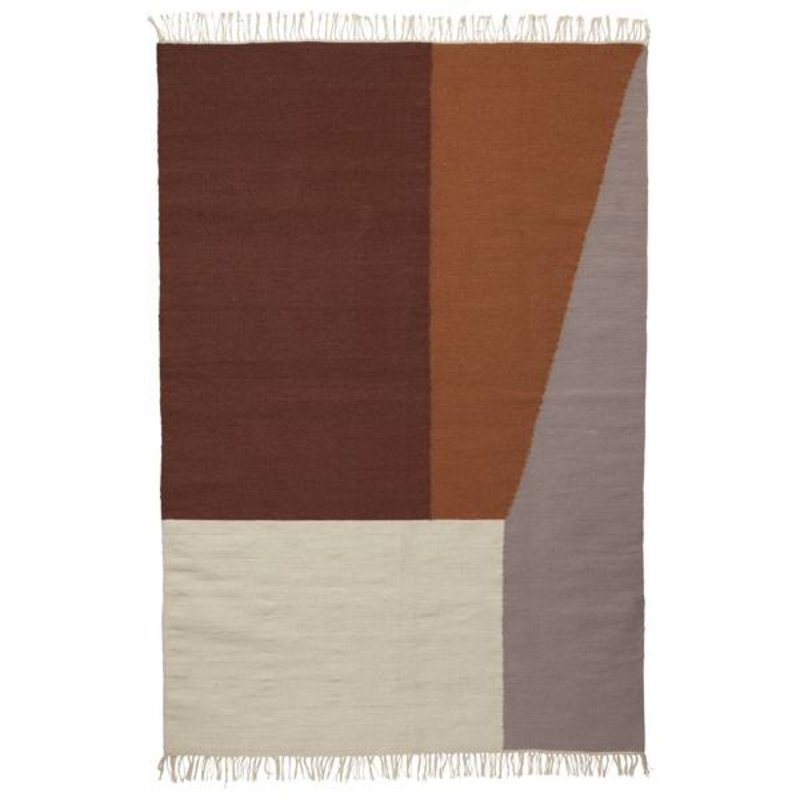 ferm LIVING-collectie Kelim vloerkleed Borders (extra large)