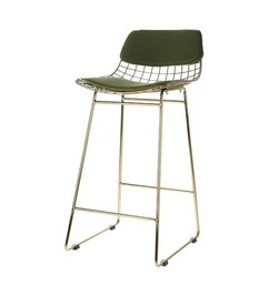 HK living-collectie Comfort kit cushion for wire barstool - green