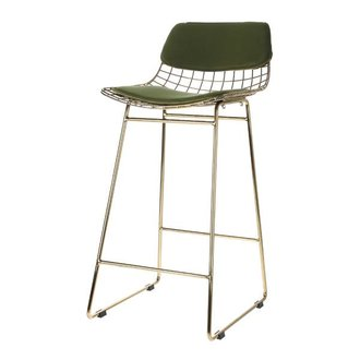 HKliving Comfort kit cushion for wire barstool - green