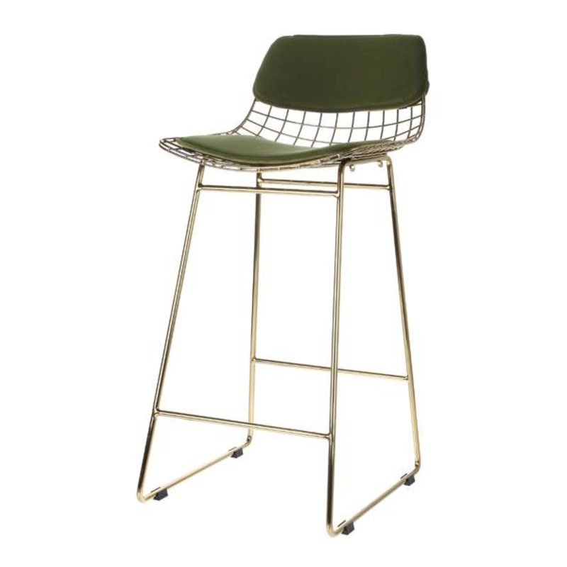 HKliving-collectie Comfort kit cushion for wire barstool - green