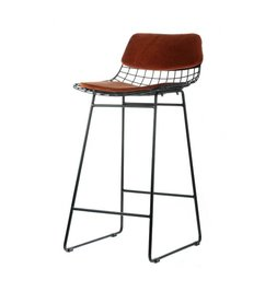 HK living  Comfort kit cushion for wire barstool - terracotta
