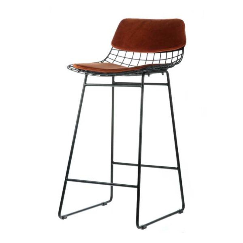 HKliving-collectie Comfort kit cushion for wire barstool - terracotta