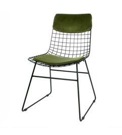 HK living  Comfort kit cushion for metal wire chair - green