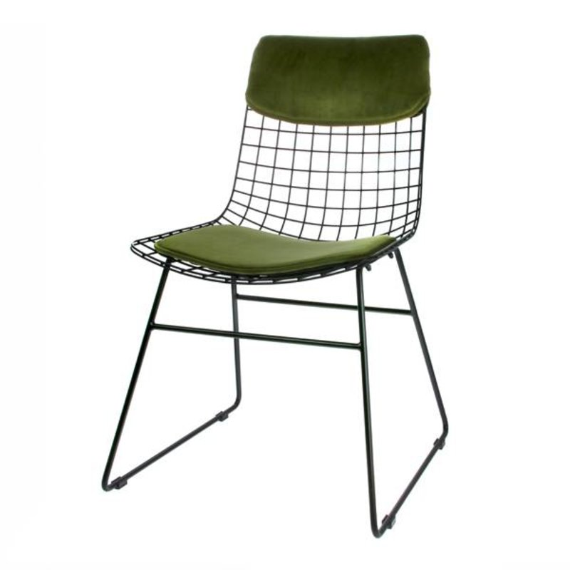 HKliving-collectie Comfort kit cushion for metal wire chair - green