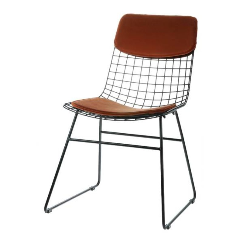 HKliving-collectie Comfort kit cushion for metal wire chair - terracotta