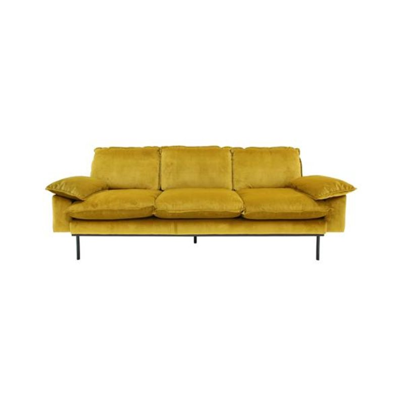 HK living-collectie Sofa 3 persons retro - ochre