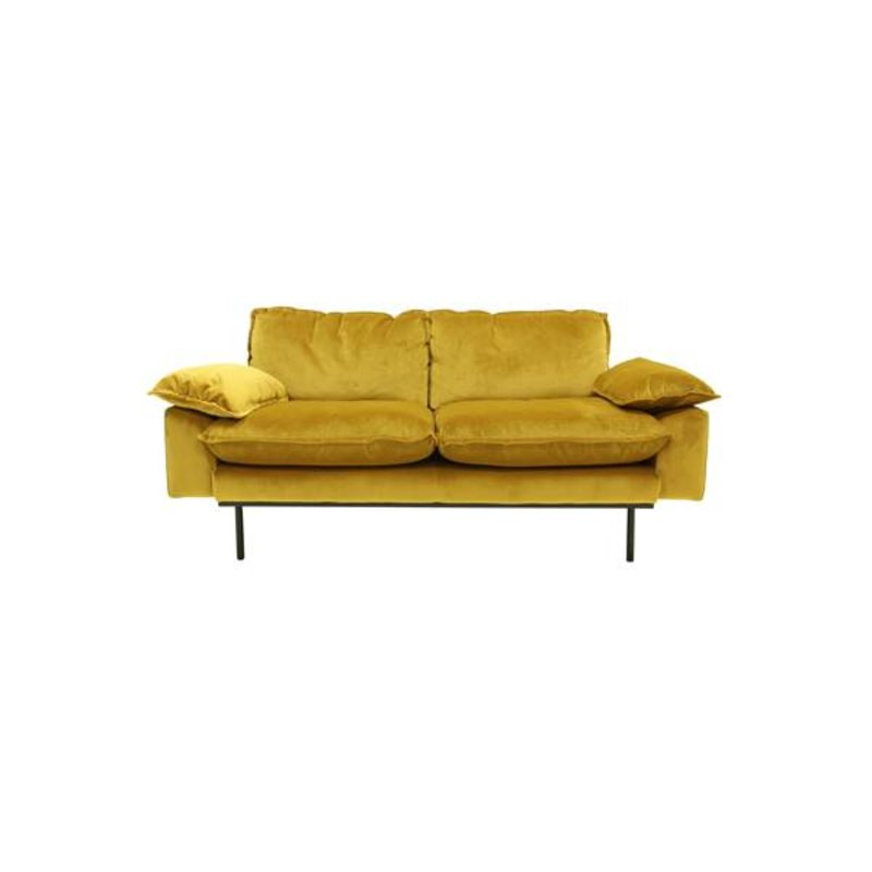 HKliving-collectie Sofa 2 persons retro - ochre