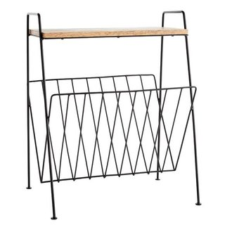 Madam Stoltz Magazine rack w/ wood