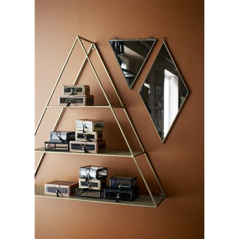 Madam Stoltz-collectie Metalen wandkast TRIANGLE