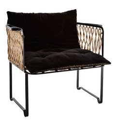 Madam Stoltz Lounge chair w/ rope and chair pad