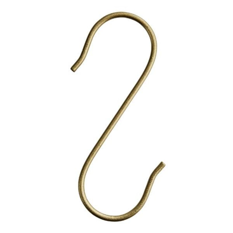 Madam Stoltz-collectie S-hook brass large - set 10 pcs