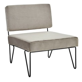 Madam Stoltz Velvet lounge chair