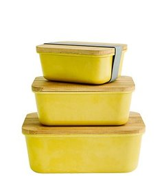 Madam Stoltz Rectangular containers w/ lid