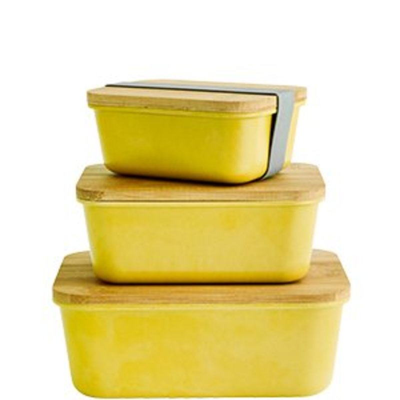 Madam Stoltz-collectie Rectangular containers w/ lid