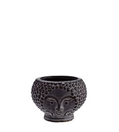Madam Stoltz Flower pot w/ face imprint