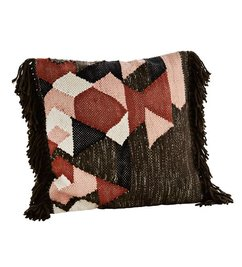 Madam Stoltz cushion cover cover w/ fringes