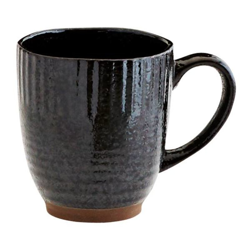 Madam Stoltz-collectie Stoneware mug - black