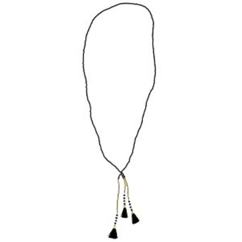 Madam Stoltz-collectie Beaded necklace w/ tassels