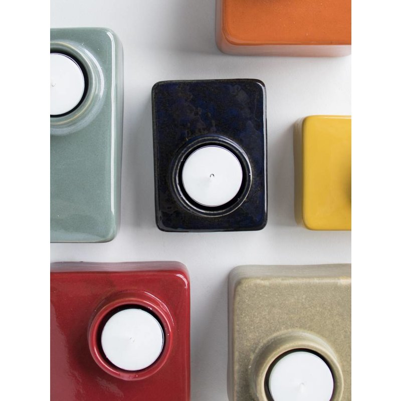 Urban Nature Culture-collectie wax light holder stone red ochre