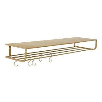 Nordal Metal shelf L - gold