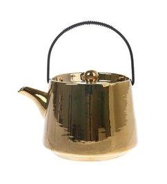 HK living  tea pot gold