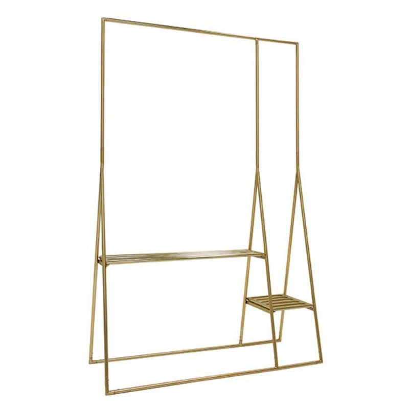 HK living-collectie brass clothing rack