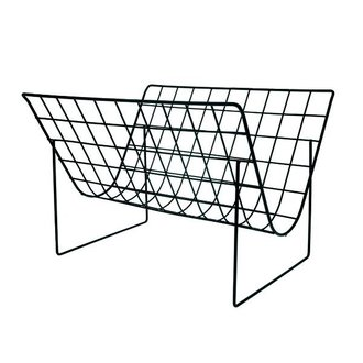HKliving metal wire magazine rack matt black