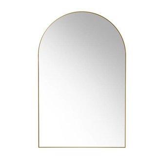 HK living arch wall mirror brass