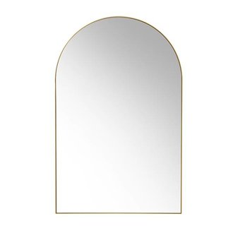 HKliving arch wall mirror brass