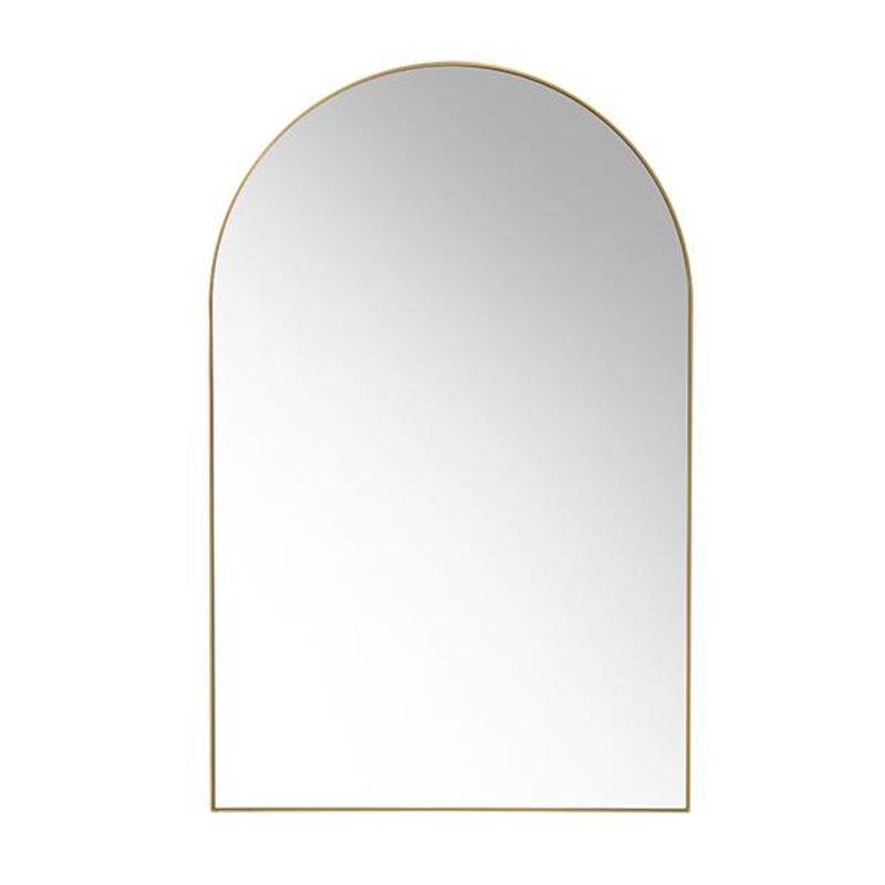 HKliving-collectie Messing spiegel met ronding