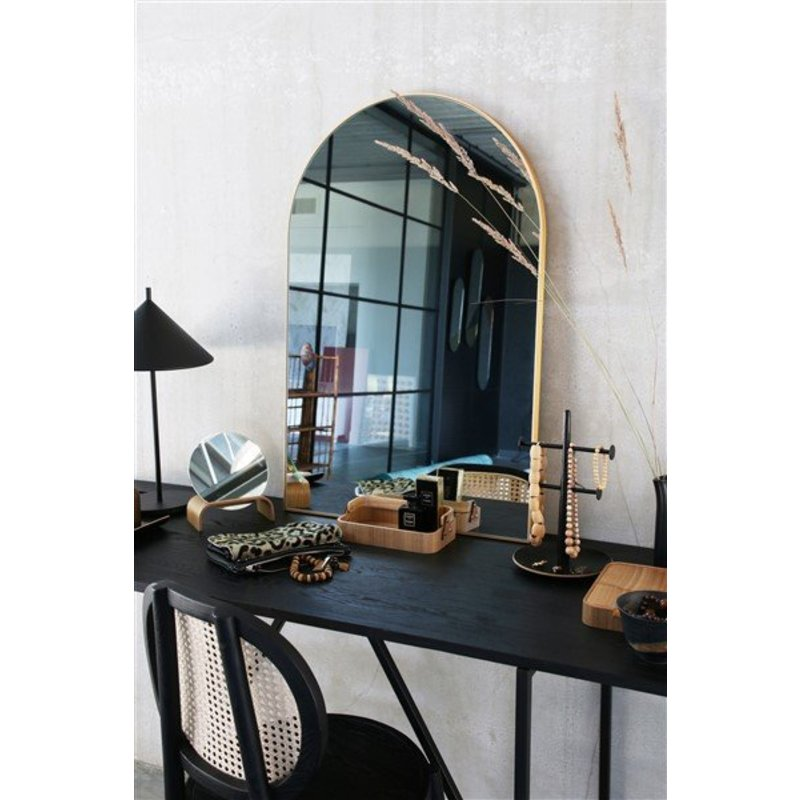 HK living-collectie arch wall mirror brass